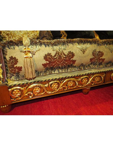 Empire style high end sofa. Handmade in Europe.