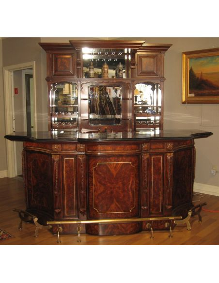 Top of the line Empire style home bar. Luxury furniture.