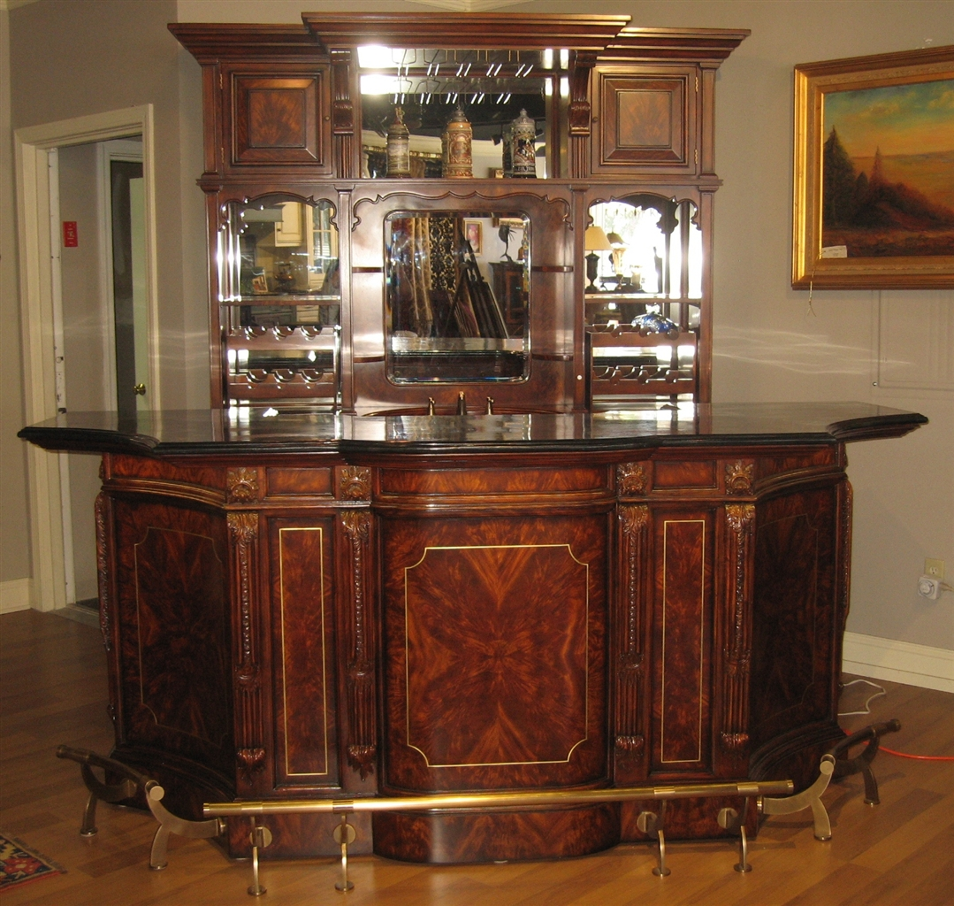 Top of the line empire style home bar luxury furniture for Bar at home furniture