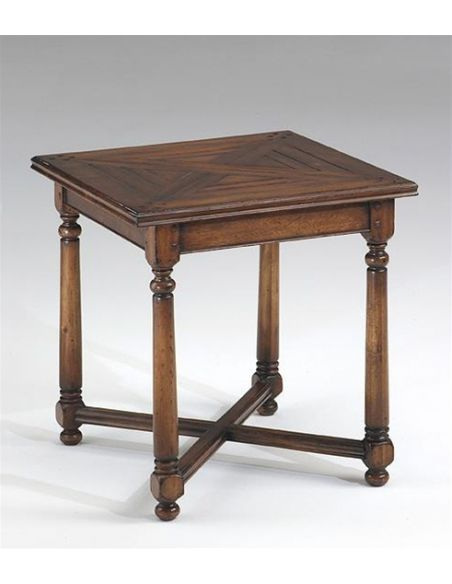 Square & Rectangular Side Tables End table with planktop.