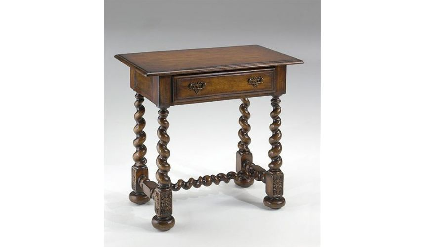 Square & Rectangular Side Tables endtable-with-barleytwist-legs