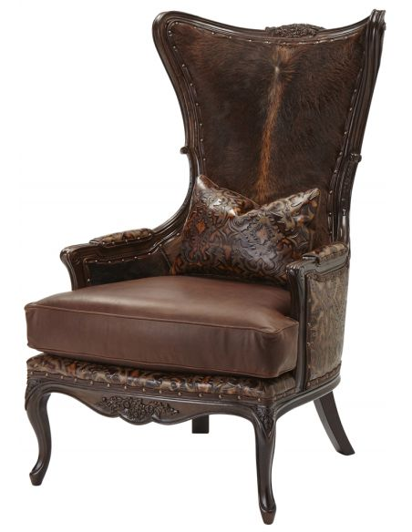 Luxury Leather & Upholstered Furniture Accent Arm Chair