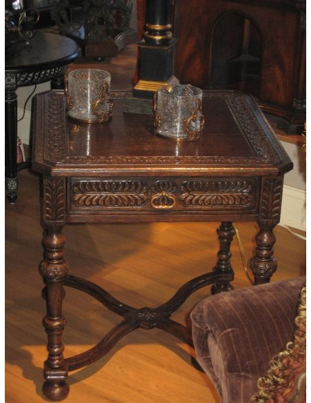 Square & Rectangular Side Tables English Manor Home Furniture, Oak Side Table