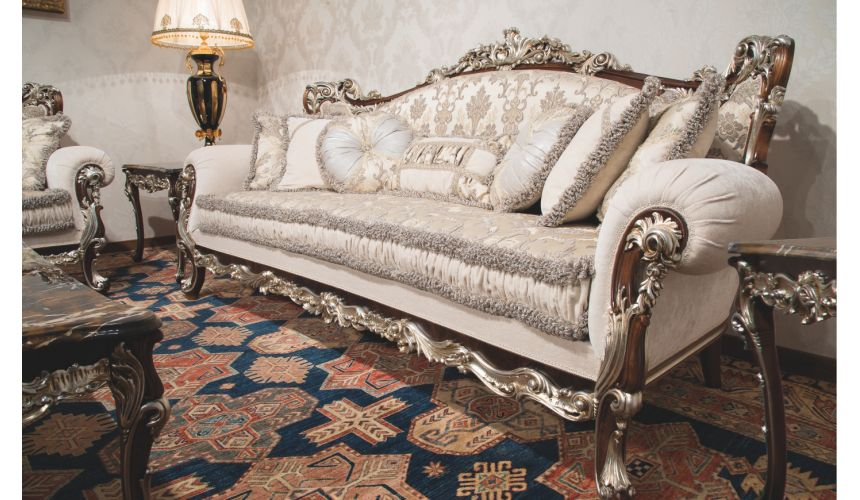 Luxury Leather & Upholstered Furniture 1 Empire style sofa. Handmade in Europe.