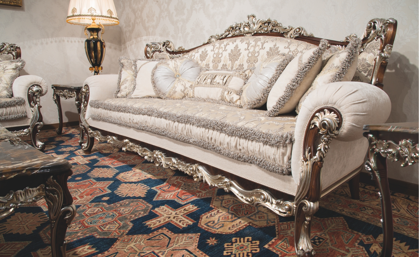 Attractive Luxury Leather U0026 Upholstered Furniture 1 Empire Style Sofa. Handmade In  Europe.
