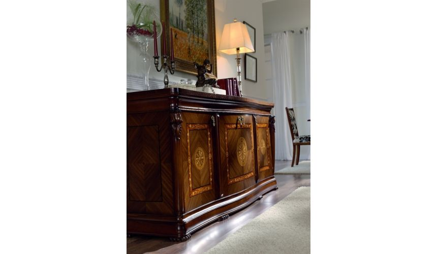 Breakfronts & China Cabinets 11 Best of European made furniture. Cradenza with marquetry.