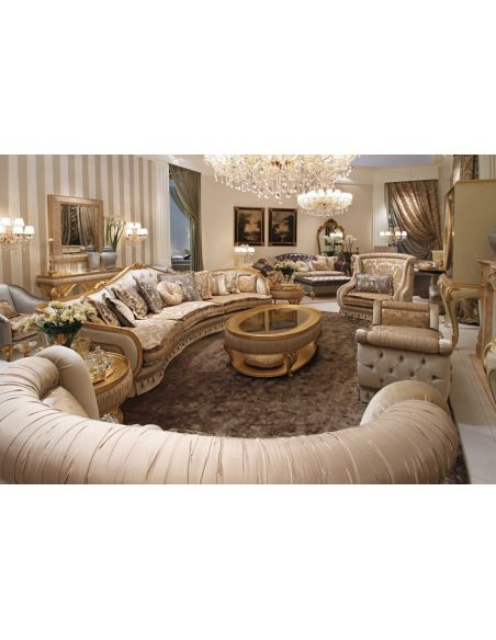 Luxury Leather & Upholstered Furniture Furniture Masterpiece Collection, sectional. Handmade in Europe.