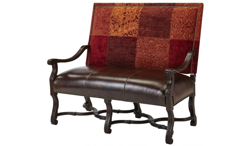 Luxury Leather & Upholstered Furniture Luxury Extended Arm Chair