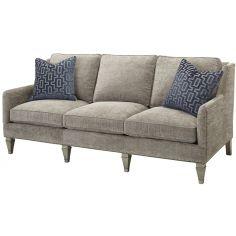 Upholstered Wingback Sofa