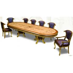 21 Exquisite marquetry and detail. Luxury dining furniture.