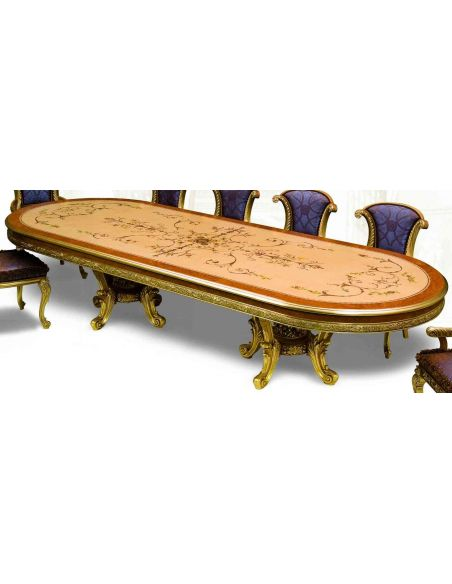 Dining Tables 21 Exquisite marquetry and detail. Luxury dining furniture.