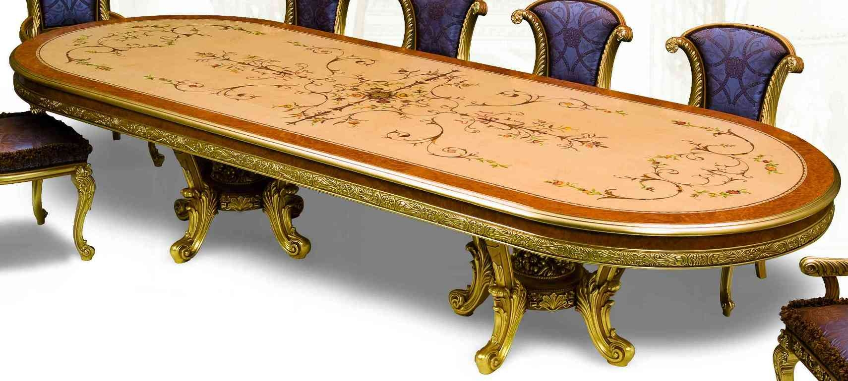 21 exquisite marquetry and detail luxury dining furniture for Expensive dining tables