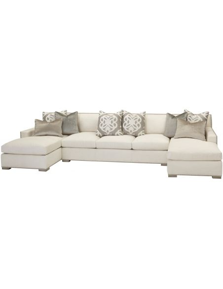 Luxury Leather & Upholstered Furniture Sea of Love Chaise Sofa