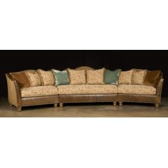 Cozy Fabric and Leather Sectional