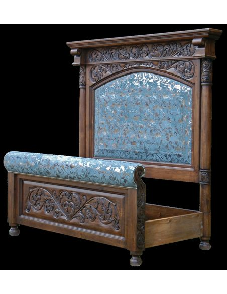 BEDS - Queen, King & California King Sizes Fancy leather bed. High style western furniture. The best in cowboy decor.