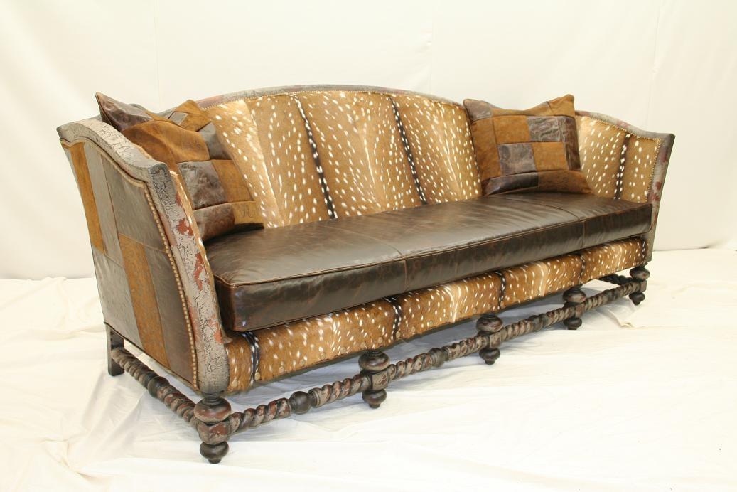 Fawn Hair Hide Sofa