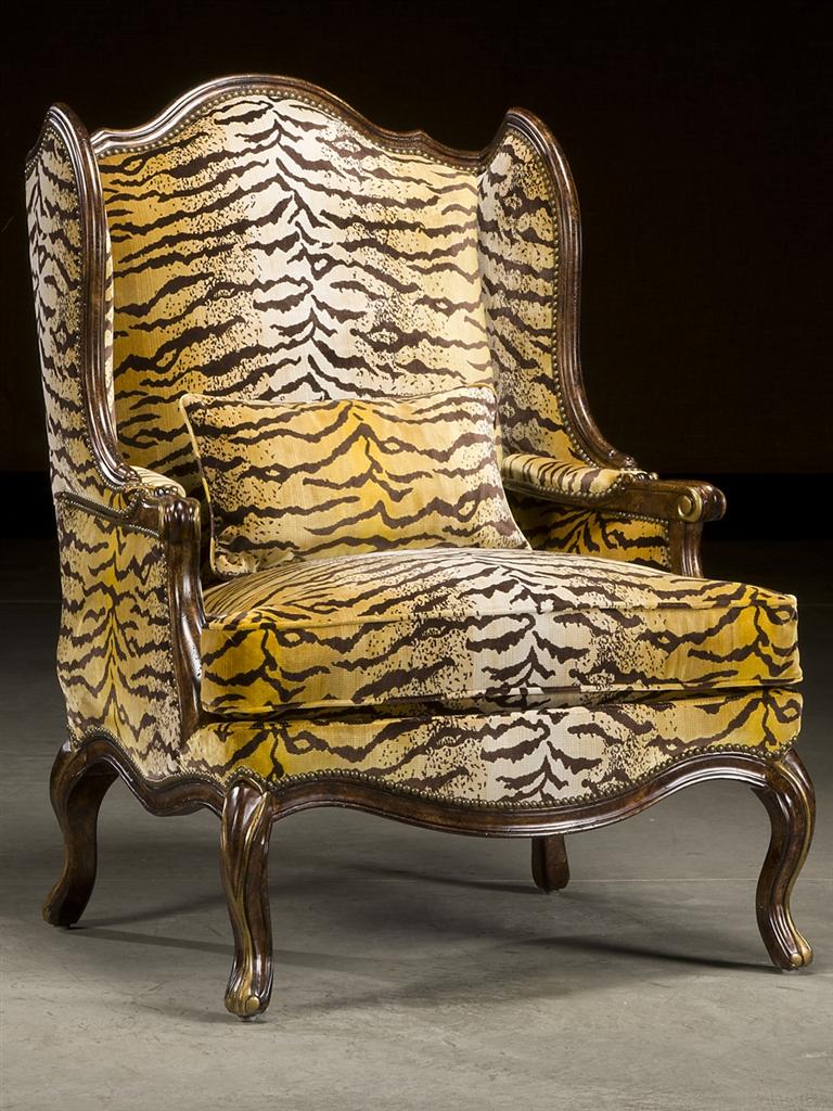 Fierce Tiger Print Arm Chair Fine Furniture