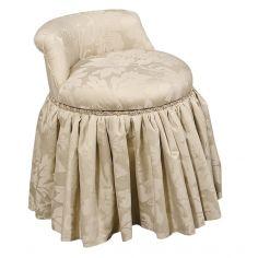 Fine furniture makeup vanity swivel stool