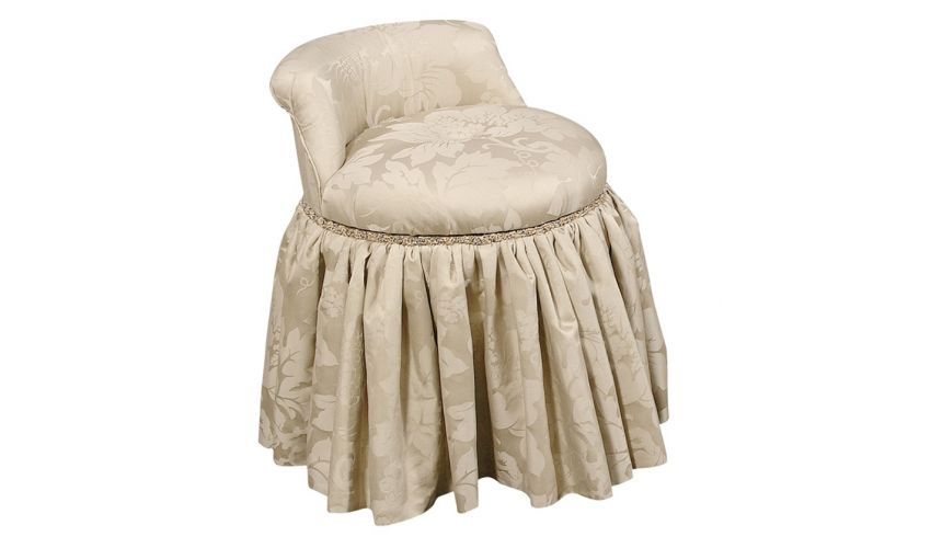 CHAIRS, Leather, Upholstered, Accent Fine furniture makeup vanity swivel stool