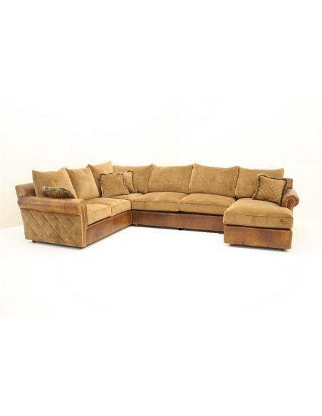 Brown Beige Sectional fine home furnishings
