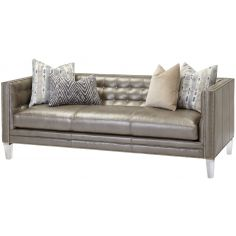 Tufted Upholstered Wingback Sofa
