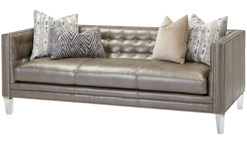 SOFA, COUCH & LOVESEAT Tufted Upholstered Wingback Sofa