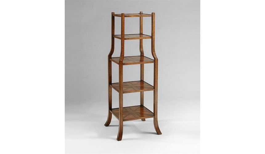 Decorative Accessories Five-tier-shelves-with-parquet