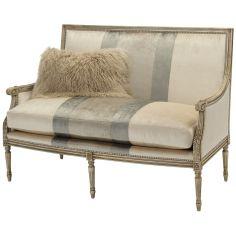 Upholstered Settee Sofa