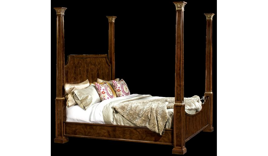 Queen and King Sized Beds Four post bed. American made furniture and furnishings.
