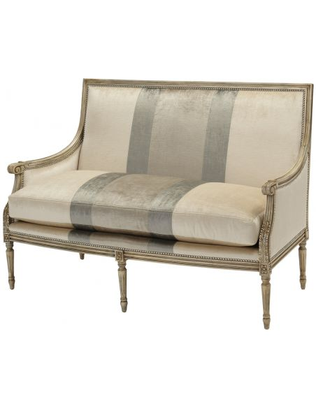 Luxury Leather & Upholstered Furniture Upholstered Settee Sofa