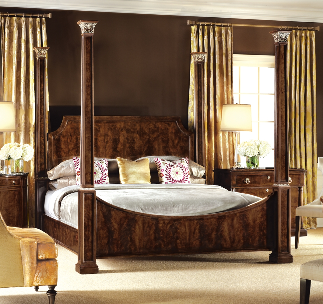 Queen and king sized beds four post bed american made furniture and furnishings