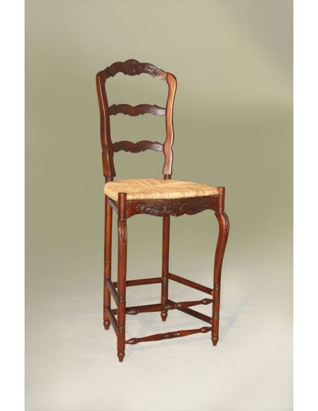 Home Bar Furniture French Ladder Back Barstool