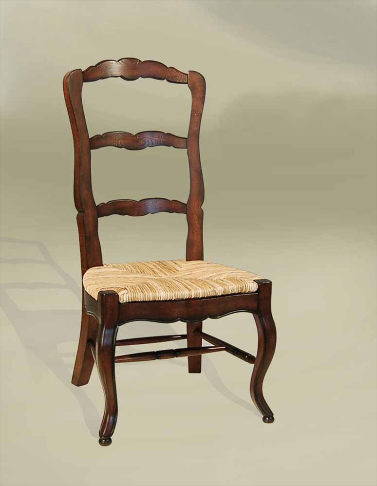 Dining Chairs Rustic French Ladderback Side Chair Rush Seat