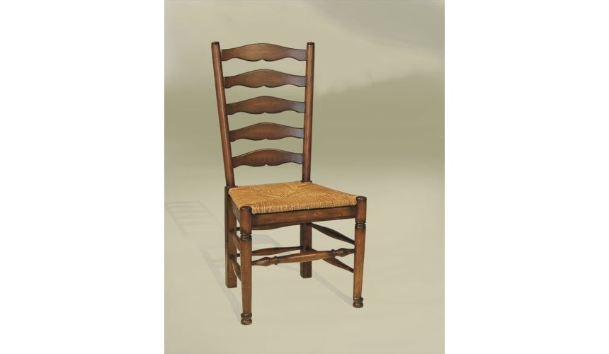 Dining Chairs Rustic Luxury Furniture, French ladderback Side Chair