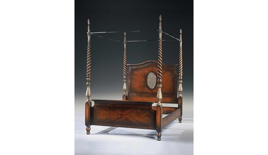 BEDS - Queen, King & California King Sizes 19th century French four poster bed frame. 8205-017