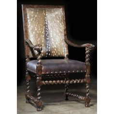 Dining Chairs Furniture home furnishing. Deer hair hide living room accent chair.