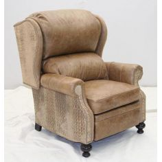 Gator Leather Recliner, unique high style furniture