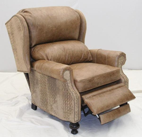 Gator Leather Recliner Unique High Style Furniture