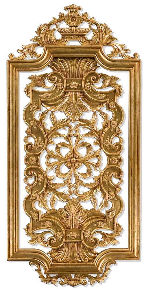 Decorative Accessories Hand carved pair of solid wood and gilded wall panel - Hand Carved Pair Of Solid Wood And Gilded Wall Panel