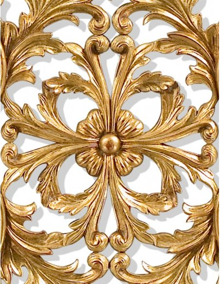 Decorative Accessories Hand carved pair of solid wood and gilded wall panel