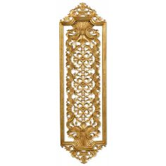 Hand carved pair of solid wood and gilded wall panel. Antique reproduction