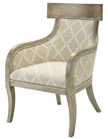 Luxury Leather & Upholstered Furniture Elegant Upholstered Arm Chair