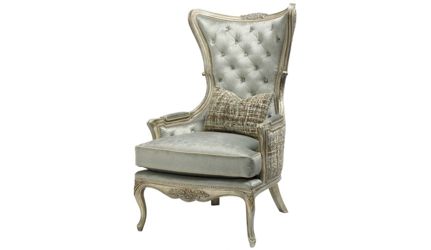 Luxury Leather & Upholstered Furniture Tufted Arm Chair