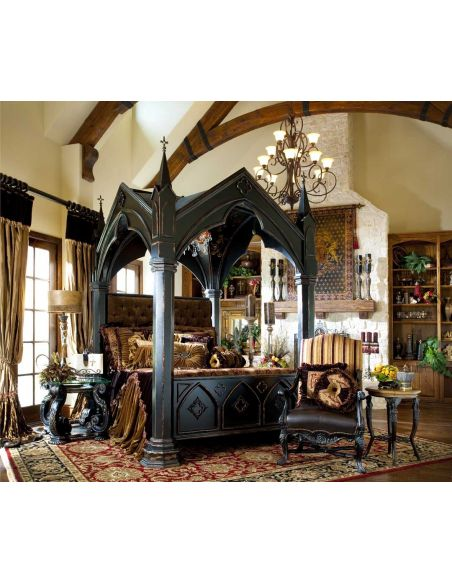 Gothic Home Furnishings - Gothic canopy bed fashion forward Custom made