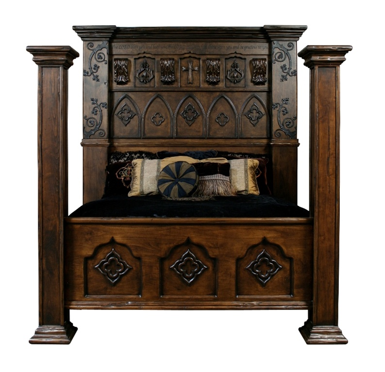 Custom Made Gothic High Style Bed End Bedroom Set