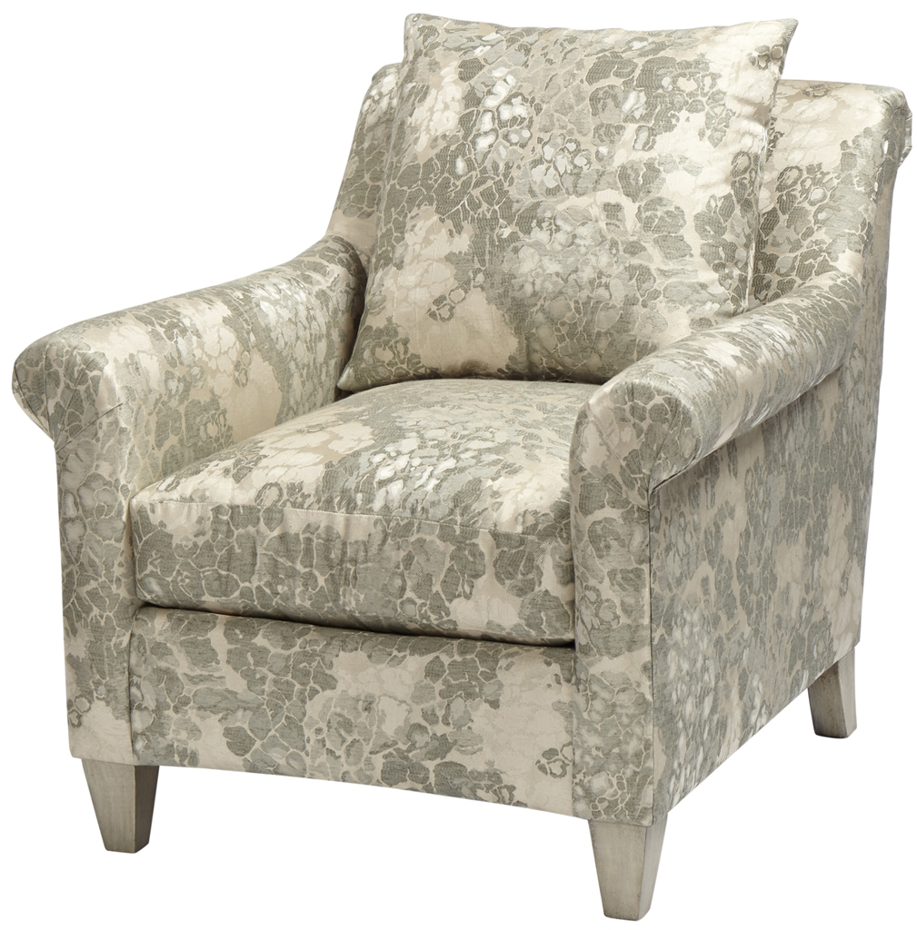 Patterned Upholstered Arm Chair