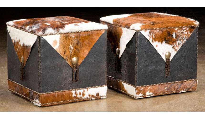 Luxury Leather & Upholstered Furniture Grand home furniture and furnishings. Cube ottomans. 13