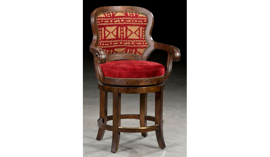 Luxury Leather & Upholstered Furniture Grand home pub and bar stools. 43