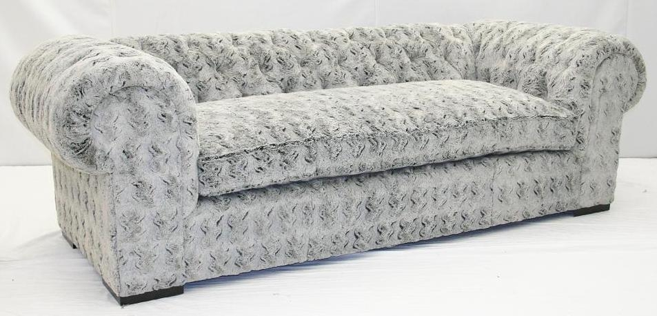 4 Grey Fox Faux Fur Sofa Crazy Fun And Comfortable