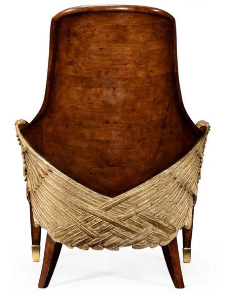 Luxury Leather & Upholstered Furniture Guardian Angel Wings Chair.